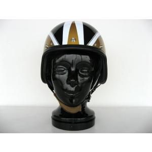 【受注オーダー】【DBMSオリジナル】【KANGOL METEOR TYPE】SPACE ROCKET (スペースロケット) GOLD×BLACK ゴールド×ブラック UK復刻ヘルメット|dbms