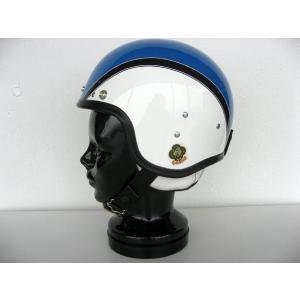 SPACE ROCKET WHITE×BLUE FLASH スペースロケット ホワイト×ブルーフラッシュ UK復刻ヘルメット 3rdタイプ|dbms|02