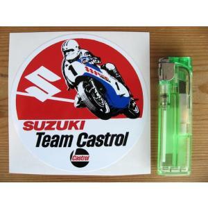 【ネコポス便発送可能】英国バイクステッカー Barry Sheene Sticker Suzuki Team Castrol RG500 スズキレーサー|dbms