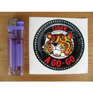【ネコポス便発送可能】エッソステッカー Esso Tiger A GO GO Tyre Sticker タイヤタイプ|dbms