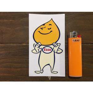 【ネコポス便発送可能】英国バイクステッカー Esso 'Smug' Oil Drip Boy Le Mans 24 Hour Car Scooter Motorcycle Sticker  #134|dbms