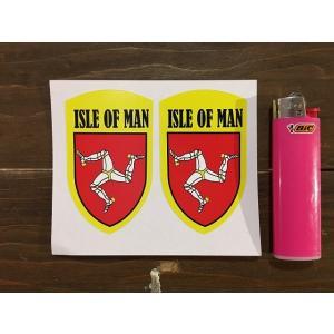 【ネコポス便発送可能】マン島ステッカー Isle of Man Yellow Shield Style Stickers #141|dbms