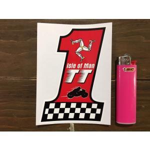【ネコポス便発送可能】マン島ステッカー Isle of Man TT Races No.1 Stickers #142|dbms