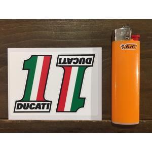【ネコポス便発送可能】ドゥカティステッカー Ducati Meccanica No.1 Later Style Stickers.2  英国 UK #144|dbms