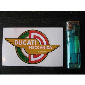 【ネコポス便発送可能】ドゥカティステッカー Ducati Meccanica Bologna Winged Sticker 4inch #110 英国輸入|dbms