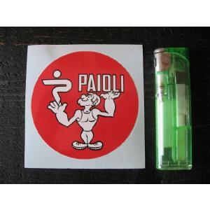 【ネコポス便発送可能】ドゥカティステッカー Paioli Ducati Old Style Red Round Sticker #112 英国 バイク|dbms