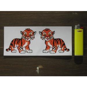 【ネコポス便発送可能】英国バイクステッカー Tiger Cub Stickers (2枚1セット) #117 タイガー|dbms