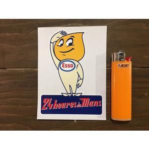 【ネコポス便発送可能】英国バイクステッカー Esso Saluting Oil Drip Boy Le Mans 24 Hour Sticker  #133|dbms