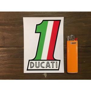 【ネコポス便発送可能】ドゥカティステッカー Ducati No.1 Old Style Sticker  英国 UK #148|dbms