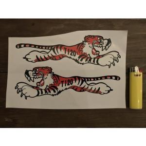 【ネコポス便発送可能】英国バイクステッカー / Ace Classics : Tiger Stickers (T120) #151 タイガー|dbms