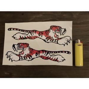 【ネコポス便発送可能】英国バイクステッカー / Ace Classics : Tiger Stickers (6T) #152 タイガー|dbms