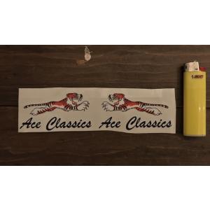 【ネコポス便発送可能】英国バイクステッカー / Ace Classics : Tiger Stickers  #154 タイガー|dbms
