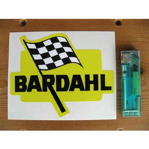 【ネコポス便発送可能】英国バイクステッカー Bardahl Shaped Sticker #18 dbms