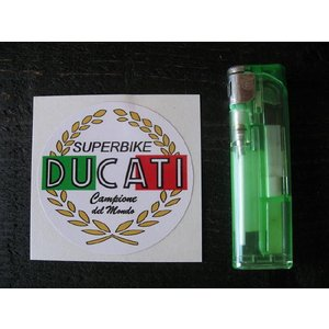 【ネコポス便発送可能】ドゥカティステッカー Ducati Superbike Garland Sticker #21 英国輸入|dbms