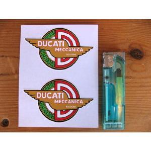 【ネコポス便発送可能】ドゥカティステッカー Ducati Meccanica Bologna Winged Sticker(2枚1セット) #23 英国輸入|dbms