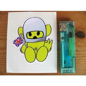 【ネコポス便発送可能】英国バイクステッカー Hesketh Naughty Teddy Sticker #28 dbms