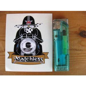 【ネコポス便発送可能】マチレスステッカー Matchless Cafe Racer with Spotty Scarf Sticker #45 カフェレーサー 英国輸入|dbms