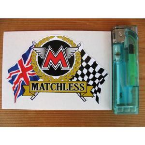 【ネコポス便発送可能】マチレスステッカー Matchless Flag & Scroll Sticker #46 英国輸入 バイク|dbms