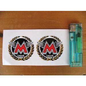 【ネコポス便発送可能】マチレスステッカー Matchless London Round Garland Sticker(2枚1セット) #47 英国輸入 バイク|dbms