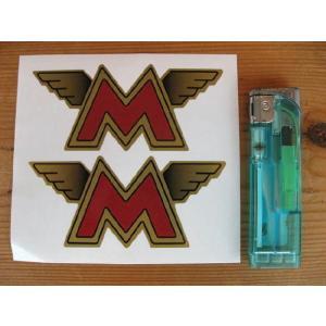 【ネコポス便発送可能】マチレスステッカー Matchless Winged M's Sticker(2枚1セット) #48 英国輸入 バイク|dbms