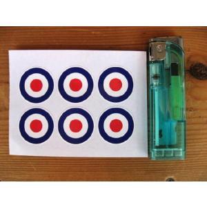 【ネコポス便発送可能】英国バイクステッカー RAF Roundel Sticker(6枚1セット) #49 モーターサイクル dbms