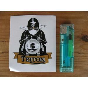 【ネコポス便発送可能】トライトンステッカー Triton Cafe Racer with Pudding Basin Helmet Sticker #68 カフェレーサー 英国輸入 dbms