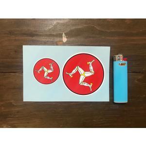 【ネコポス便発送可能】マン島ステッカー Isle of Man Circlar Sticker (2枚1セット) #85 英国輸入|dbms