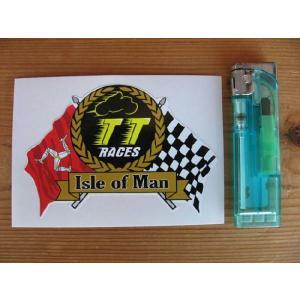 【ネコポス便発送可能】マン島ステッカー TT Race Isle of Man Cafe Racer Sticker #86 カフェレーサー|dbms