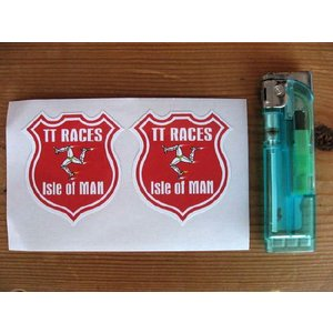 【ネコポス便発送可能】マン島ステッカー Isle of Man TT Race Manx Shield Stickers (2枚1セット) #89 マンクス|dbms