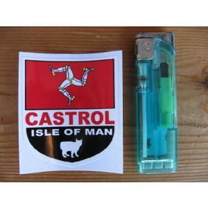 【ネコポス便発送可能】マン島ステッカー Isle of Man and Castrol Shield Sticker #90 英国輸入|dbms