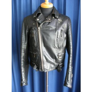 70s Vitage Jackets Lewis Leathers 391 Lightning BLACK Size:38 70年代 ヴィンテージジャケット ルイスレザーズ ライトニング ブラック サイズ38|dbms