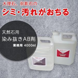 掃除 洗剤 業務用 染み抜き洗剤 大理石・御影石用 4000mL×2本 A液B液のセット 湿布用 dc-lab