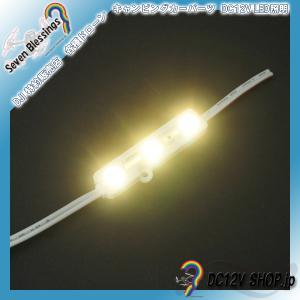 DC12V 表面カバー付LEDモジュール(3000K 暖色系 SMD5050 3個)|dc12v-shop