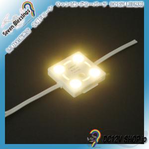 DC12V 表面カバー付LEDモジュール(3000K 暖色系 SMD5050 4個)|dc12v-shop