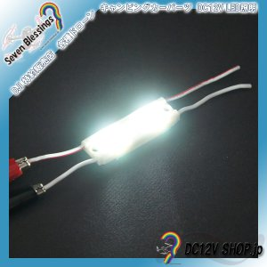 DC12V 広角レンズ搭載LEDモジュール(6500K 白色系 SMD5050 2個)|dc12v-shop