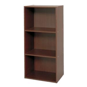 DCMブランド カラーボックス 3段/DCM-FCB9045 DK ダークブラウン/41.5X29X88.4cm|dcmonline