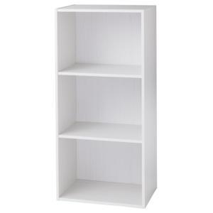 DCMブランド カラーボックス 3段/DCM-FCB9045 SW Sホワイト/41.5X29X88.4cmの商品画像|ナビ