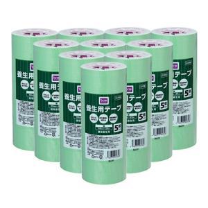 DCMブランド 【ケース販売】養生用テープ 緑/50mmx25m 5個入り x10 dcmonline