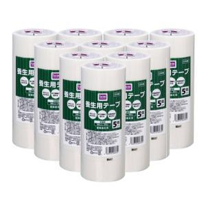 DCMブランド 【ケース販売】養生用テープ 半透明/50mmx25m 5個入り x10 dcmonline