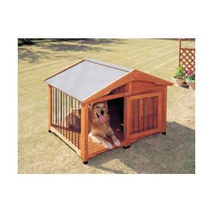 アイリスオーヤマ サークル犬舎/CL-1400 ブラウン/W1430×D1130×H995mm|dcmonline