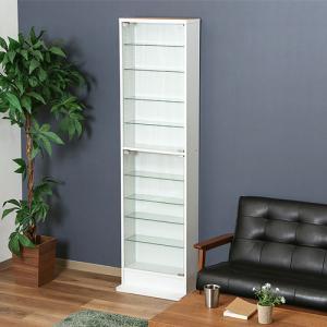 不二貿易 ガラスコレクションケース ハイタイプ 浅型/96073 ホワイト|dcmonline