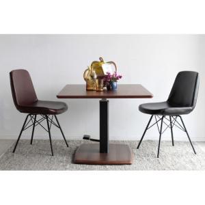 東馬 使う場所を選ばない昇降式木目テーブル/昇降テーブル クアトロ