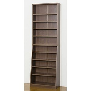kuroshio SOHO書棚W60 ウォルナット/31141 ウォルナット/W600×D295×H1800mmの写真