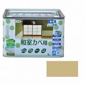 アサヒペン インテリアカラー和室カベ用 5L 浅黄色|dcmonline