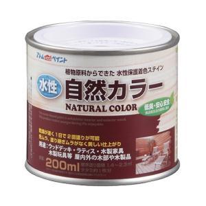 アトムハウスペイント 水性自然カラー(天然油脂ステイン) ミディアムブラウン/200ML