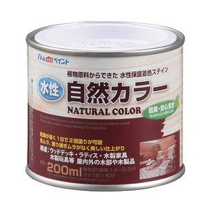 アトムハウスペイント 水性自然カラー(天然油脂ステイン) ミディアムオーク/200ML
