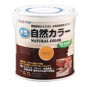 アトムハウスペイント 水性自然カラー(天然油脂ステイン) 0.7L パイン/0.7L dcmonline
