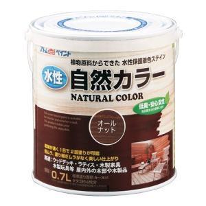 アトムハウスペイント 水性自然カラー(天然油脂ステイン) オールナット/0.7L