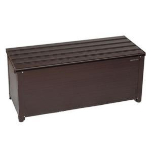 グリーンライフ アルミベンチストッカー114/ABS-114N ブラウン/1140x460x485mm|dcmonline
