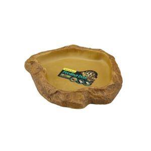 ★5000円以上で送料無料★ 自然の岩を再現したエサ皿でテラリウムにぴったり! ●原材料:ポリレジン...